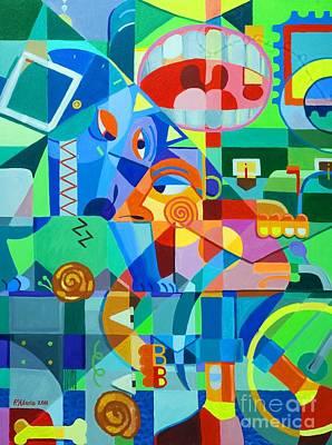 Cubism Wall Art - Painting - Nainip Na Si Bantay Sa Tagal Ng Hinintay by Paul Hilario