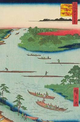 River Mouth Painting - Nakagawa River Mouth by Utagawa Hiroshige