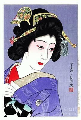 Painting - Nakamura Senjaku As Ohatsu by Reproduction