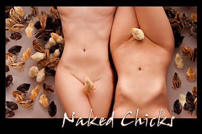 Naked Chicks 1 Art Print by Dario Infini