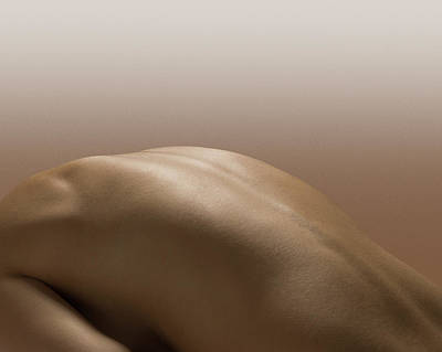 Naked Photograph - Naked Female Back by Jonathan Knowles