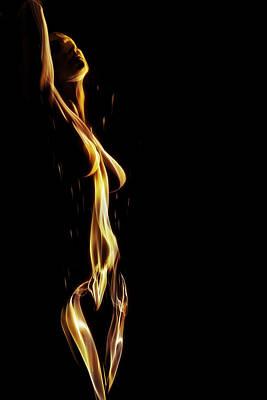 Nudes Digital Art - Naked Flame by David Quinn