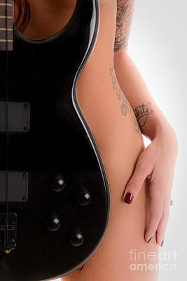 Tat Photograph - Naked Guitar by Jt PhotoDesign