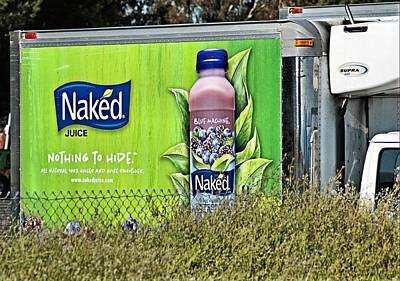 Naked Juice - Nothing To Hide Print by Bob Wall