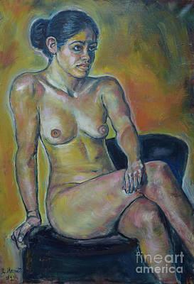 Painting - Naked Suri 1 by Raija Merila