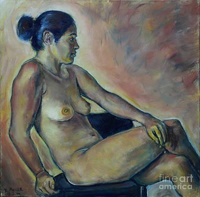 Painting - Naked Suri 2 by Raija Merila