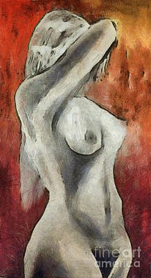 Artistic Nude Mixed Media - Naked Woman by Michal Boubin