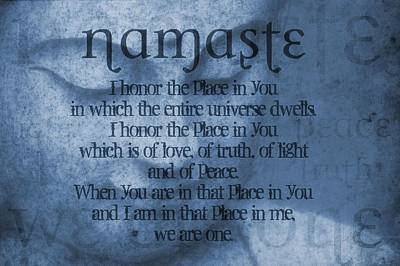 Namaste Blue Art Print by Dan Sproul