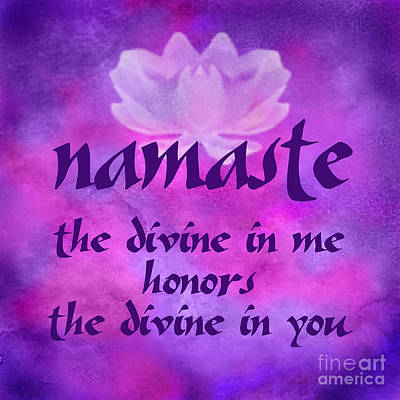 Digital Art - Namaste by Ginny Gaura