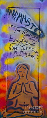 First Amendment Painting - Namaste Long Wood by Tony B Conscious
