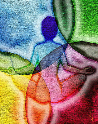 Chakra Rainbow Painting - Namaste II by Michelle Rene Goodhew
