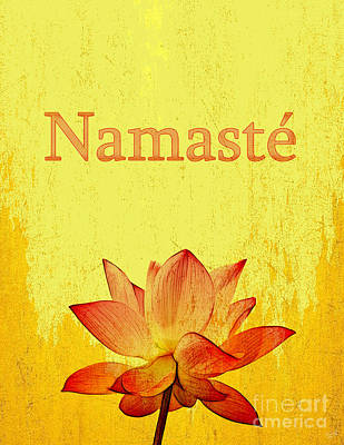 Zen Digital Art - Namaste by Nishanth Gopinathan