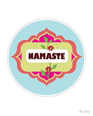 Namaste Vertical Print By Loose Petals Art Print
