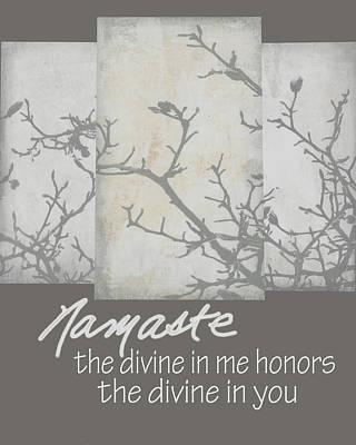 Namaste Quote Art Print