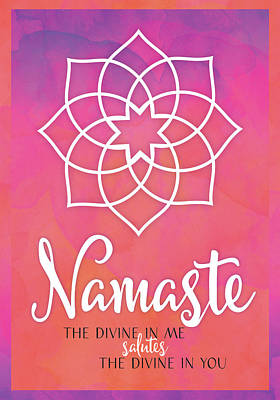 Namaste Art Print by Tammy Apple