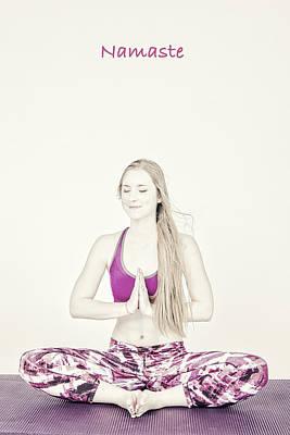 Namaste Yoga Poser Art Print by David Haskett