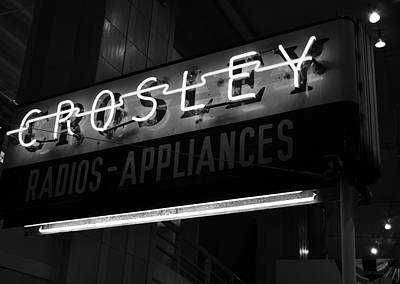 Name In Lights Bw Art Print by Tri State Art