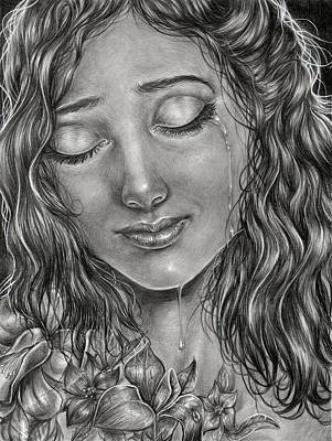 Tears Drawing - Name Of The Flower by Humberto Miguel Trejo