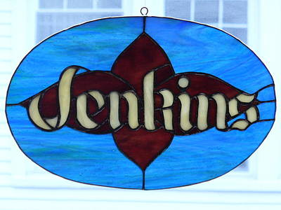 Glass Art - Name Sign by Karin Thue