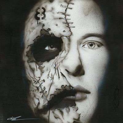 Taylor Painting - Corey Taylor - ' Nameless ' by Christian Chapman Art
