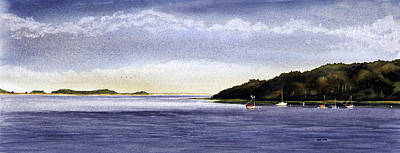 Cape Cod Bay Painting - Namequoit Point by Heidi Gallo