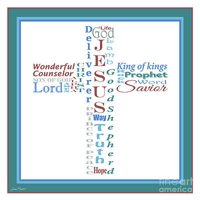Names Of Jesus-jp2457 Original by Jean Plout