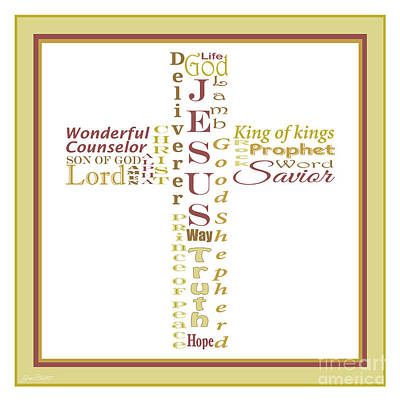 Names Of Jesus-jp2460 Original by Jean Plout