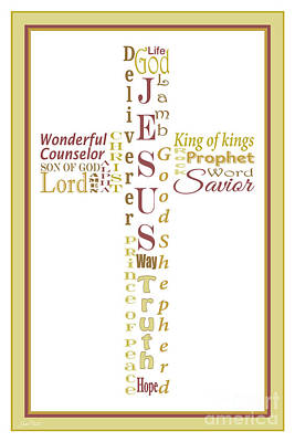 Names Of Jesus-jp2459 Original by Jean Plout