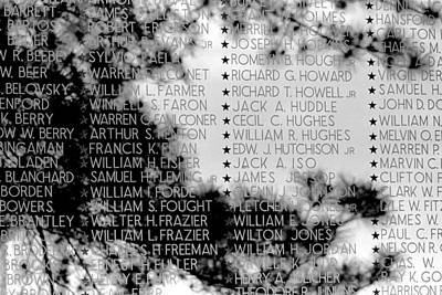 Names On The Wall Art Print by Mike Flynn