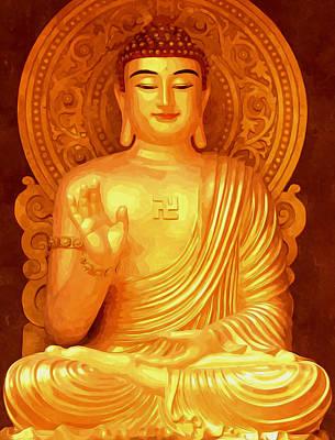 Tibetan Buddhism Painting - Namo Amitabha Buddha 36 by Lanjee Chee