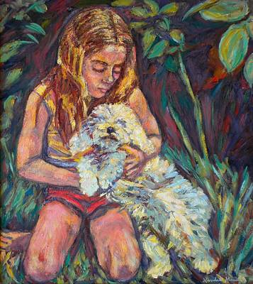 Nan And Beau Art Print by Kendall Kessler