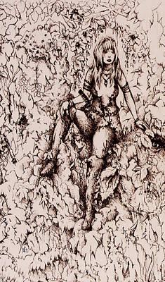 Silmarillion Drawing - Nan Dungortheb Detail by Rachel Christine Nowicki