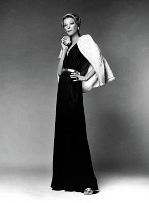 Nan Kempner Wearing A Halter Dress Art Print