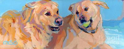 Golden Lab Painting - Nana Nana Na Na by Kimberly Santini