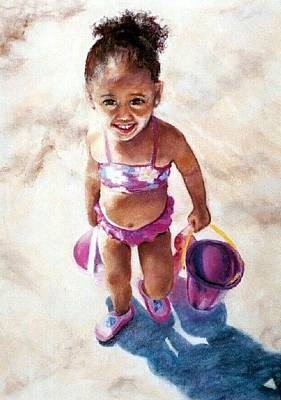 Painting - Nana On The Beach by Jodie Marie Anne Richardson Traugott          aka jm-ART