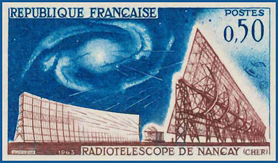 Constellations Painting - Nancay Radiotelescope 1963 by Lanjee Chee