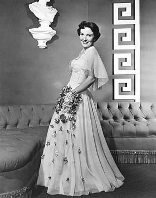 Nancy Davis, Aka Nancy Reagan, Modeling Art Print by Everett