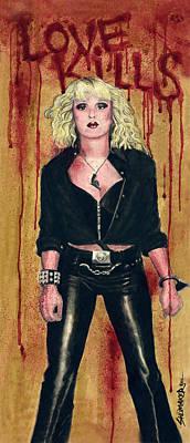 Prison Painting - Nancy Spungen Love Kills by David Shumate