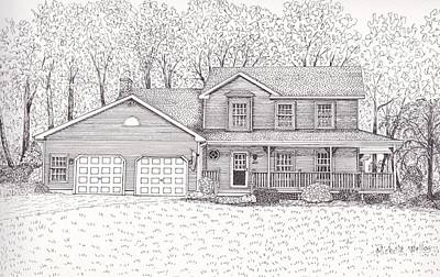 Drawing - Nancy's House by Michelle Welles