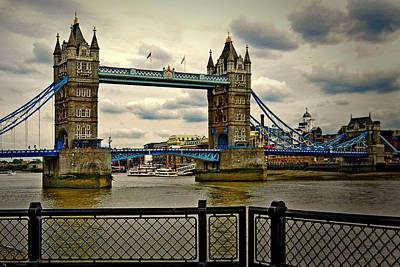 Photograph - Nancy's Tower Bridge In London by Bill Swartwout Fine Art Photography