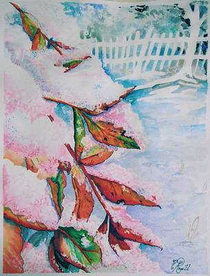 Painting - Nandina In Snow by Nicole Angell