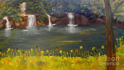 Nandroy Falls In Queensland Art Print