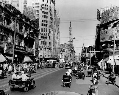Nanking Road In Shanghai 1949 Art Print by Retro Images Archive