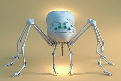 Future Tech Photograph - Nanobot Spider by Tim Vernon