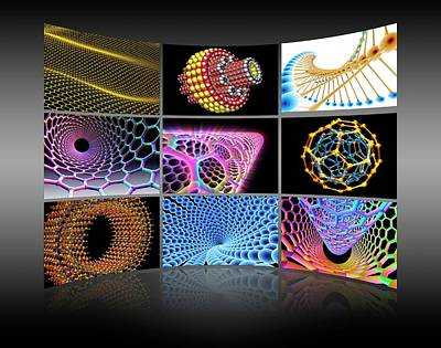 Molecular Photograph - Nanotechnology Display Wall by Alfred Pasieka
