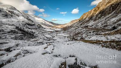 Snow Digital Art - Nant Ffrancon by Adrian Evans
