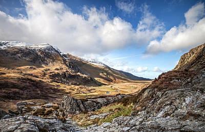 Nant Ffrancon Valley In Snowdonia Art Print