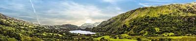 Llyn Gwynant Photograph - Nant Gwynant Panoramic by Paul Madden