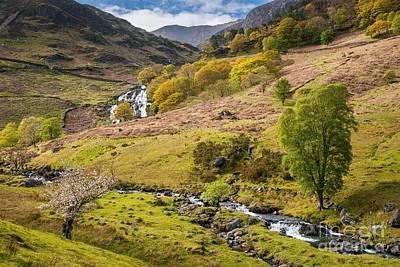 Landscape Photograph - Nant Gwynant Waterfalls by Maciej Markiewicz