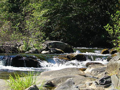 Photograph - Nantahala Stream 7 by Lew Davis